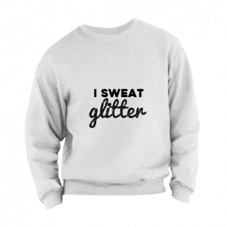 Sweater i sweat glitter adults