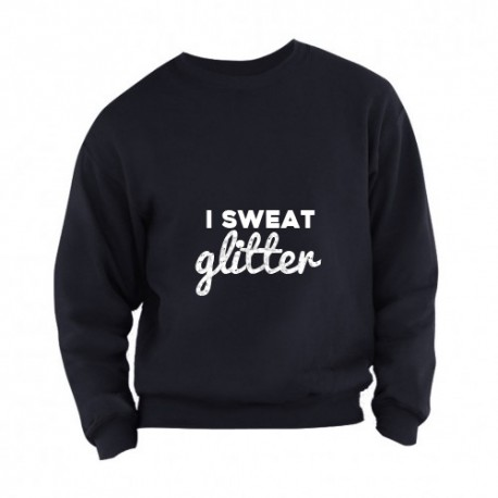Sweater i sweat glitter adults