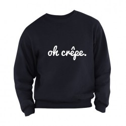 Sweater Oh Crêpe 2 adults navy