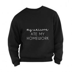 My unicorn ate my homework Sweater