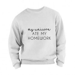 My unicorn ate my homework Sweater