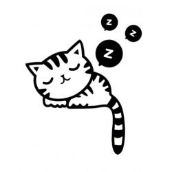 Muursticker sleepy cat