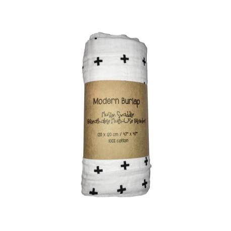 Modern Burlap Swaddle Blanket - Driehoeken