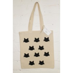 Tote bag met poezenprint