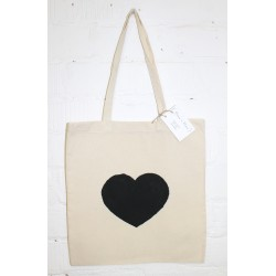 Tote bag met hartprint