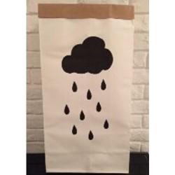PRE-ORDER Papieren opbergzak regenwolk