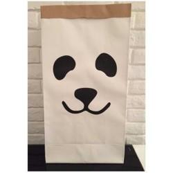 Papieren opbergzak panda